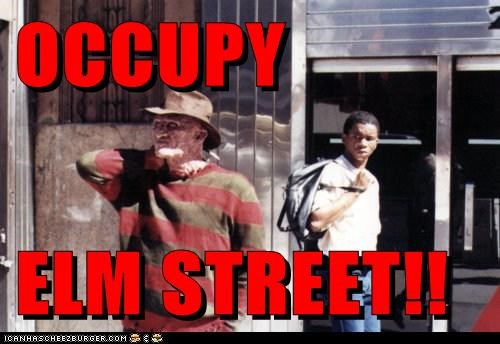 elm street freddy krueger nightmare on elm street occupy Occupy Wall Street ows - 5524887552