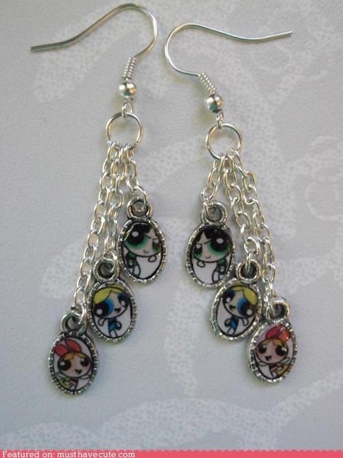 accessories earrings Jewelry powerpuff girls - 5524907776