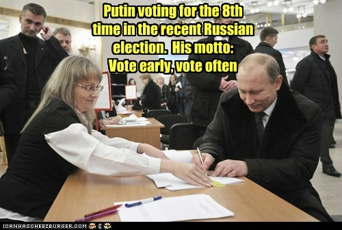 election political pictures Vladimir Putin vote - 5525667328