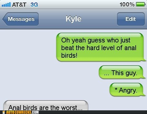 anal birds,angry birds,auto correct,game