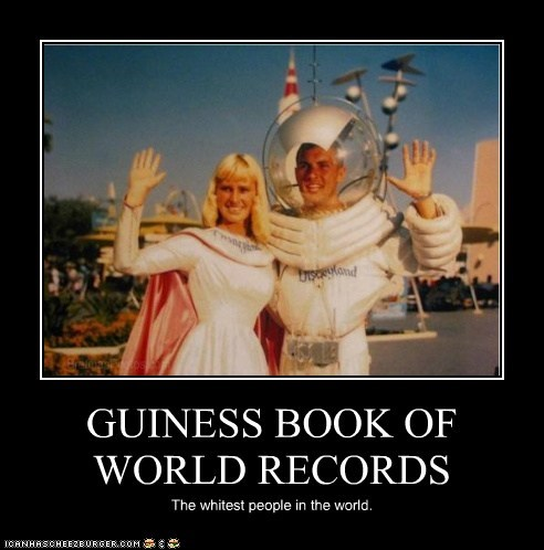 GUINESS BOOK OF WORLD RECORDS The whitest people in the world.