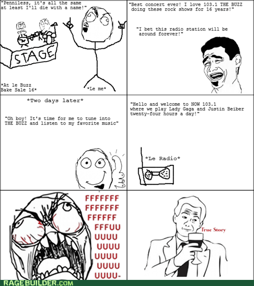 Music radio Rage Comics rock - 5526042624