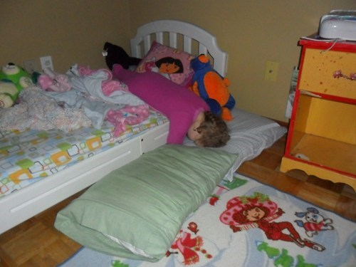 baby,bed,bed time,crib,falling,Parenting Fail,sleeping,whoops