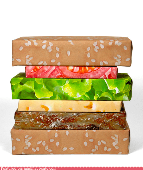 best of the week cheeseburger gift guide layers wrapping paper - 5526302976