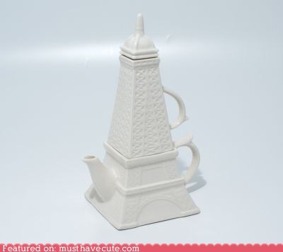 ceramic eiffel tower gift guide paris set teacup teapot - 5526324480