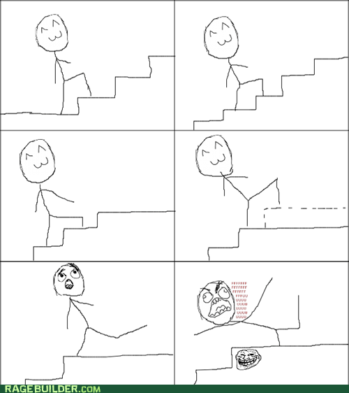 Awkward,Rage Comics,stairs,top