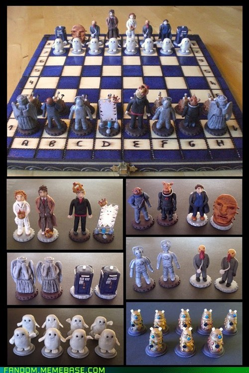 awesome best of week chess dalek doctor who Fan Art ood tardis weeping angels - 5526408448