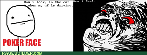 car driving gf Rage Comics