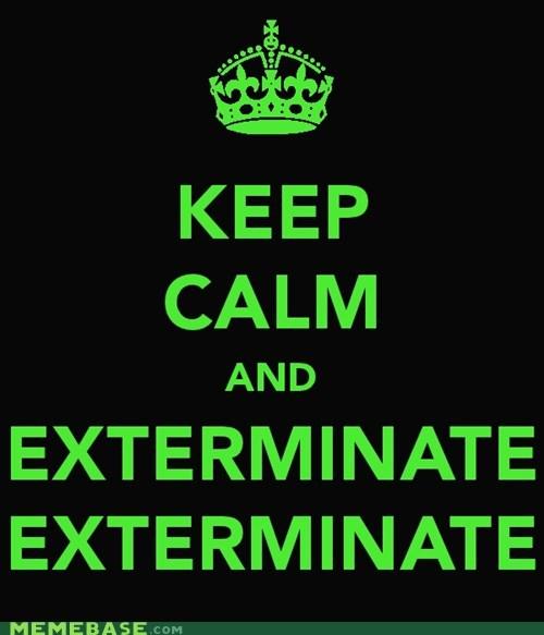 dalek doctor who Exterminate Fan Art keep calm - 5526697472