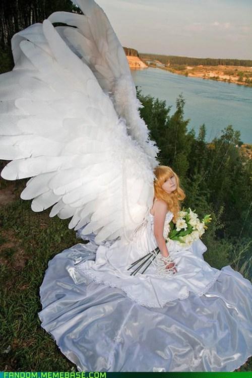 angel cosplay Kotori Monou manga wings x1999 - 5526697728