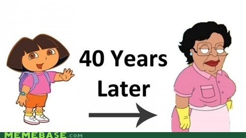 cannot unsee cartoons dora english explorer family guy maid spanish - 5526758656