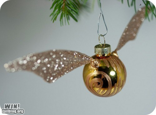 christmas,christmas decorations,Harry Potter,holidays,ornament,quidditch,snitch