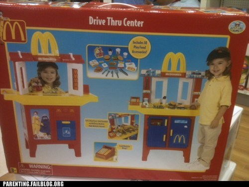 career dreams fast food food job McDonald's naughty or nice Parenting Fail toy - 5527018240