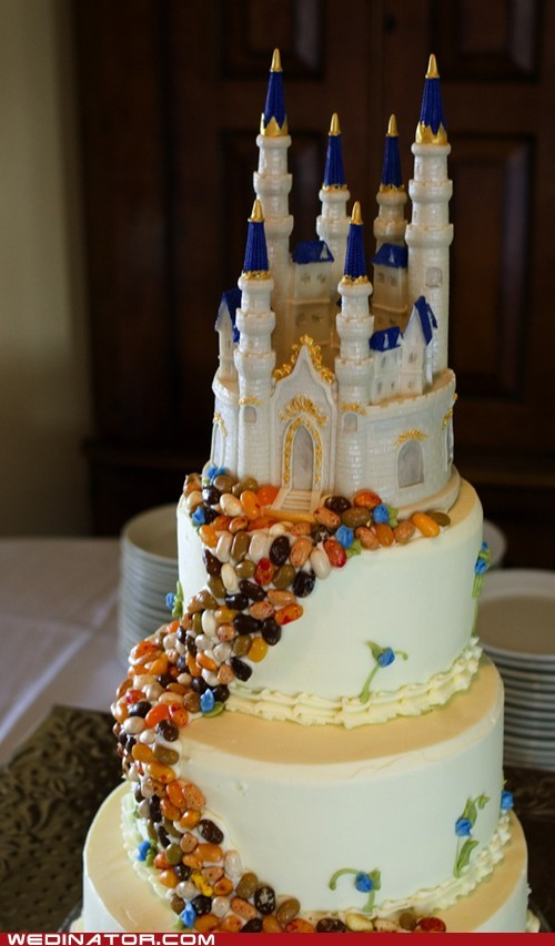 cake,castle,funny wedding photos,jellybeans,wedding cake