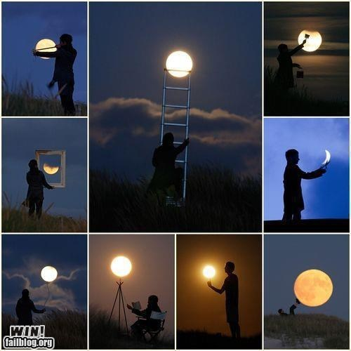 art clever Hall of Fame moon perspective photography space win - 5527480320