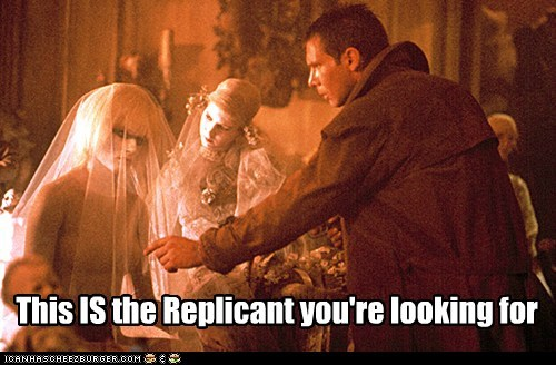 Blade Runner Harrison Ford jedi mind tricks not-the-droids-youre-looking-for replicant Rick Deckard