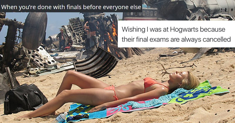 students university college finals week memes