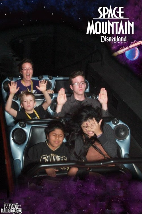 amusement park disneyland not impressed poker face roller coaster Space Mountain theme park - 5527611648
