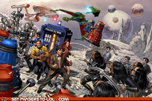 amy pond,art,awesome,best of the week,Captain Kirk,cybermen,daleks,doctor who,klingons,Matt Smith,romulans,Star Trek,the doctor