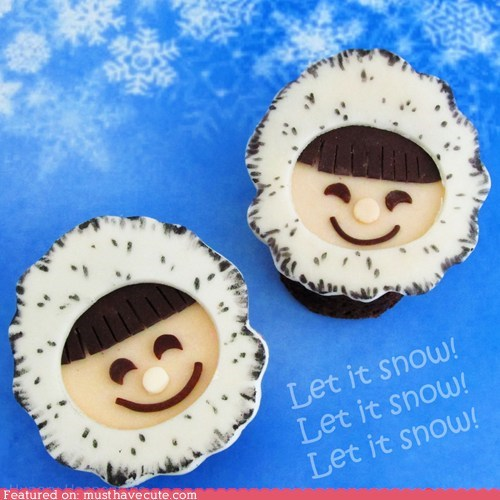 brownies,epicute,eskimo,faces,fondant