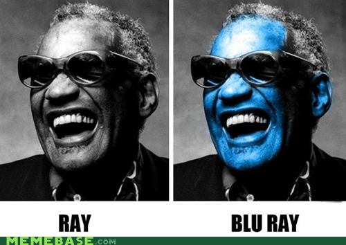 blind,blu ray,blue,discs,Lame Pun Coon,ray charles,the blues