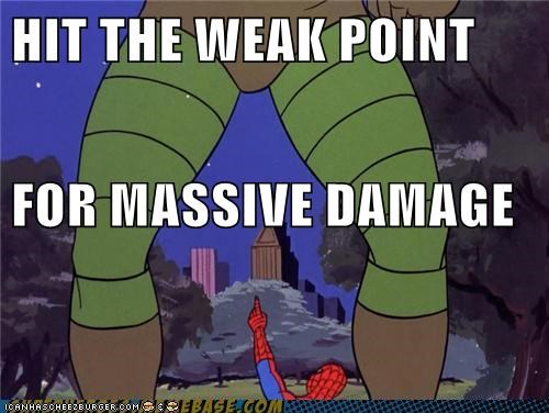 Image result for hit the weak point for massive damage