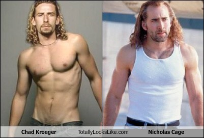 Chad Kroeger Totally Looks Like Nicholas Cage