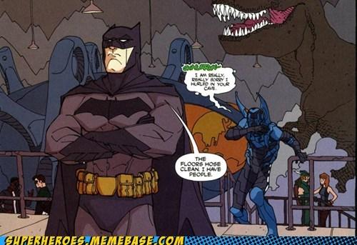 batman dinosaur JLA Straight off the Page throw up wtf - 5529233408