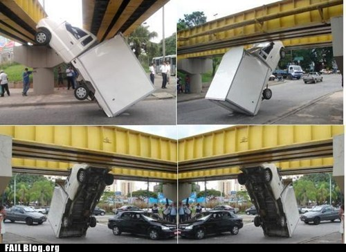 bridge,cars,crash,whoops