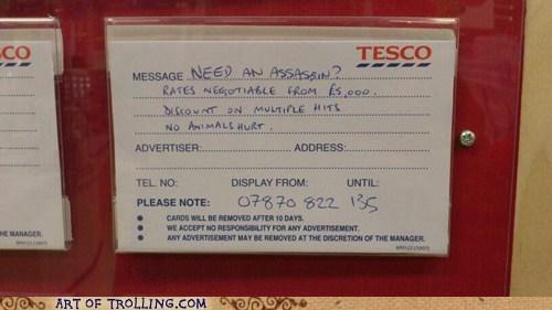 advert animals assassin IRL sign - 5529498368