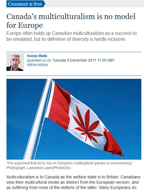 Canadian Multiculturalism Highbrow Humor Some Dumb Erratum The Grauniad - 5530064896