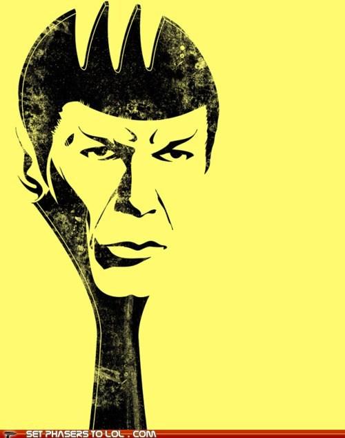 Leonard Nimoy puns Spock spork Star Trek - 5530212608