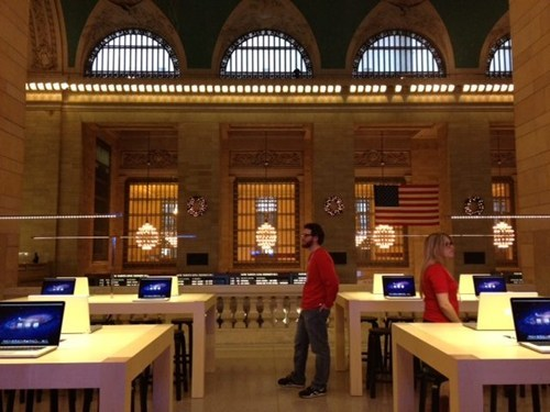 apple apple store grand central station Nerd News photos Tech