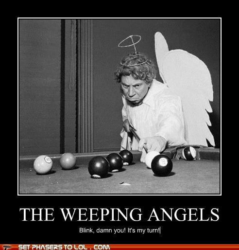 cheezburger sites,doctor who,pool,ugs,weeping angels