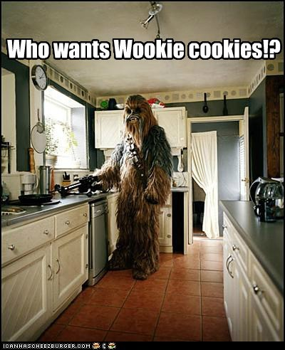 chewbacca cookies cooking star wars wookie - 5530305536