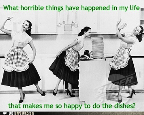 dishes distopia doing dishes historic lols vintage - 5530379520