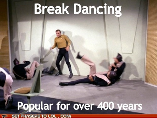 break dancing,Captain Kirk,future,Shatnerday,Star Trek,William Shatner