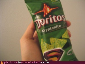 doritos junk food kryptonite superman wtf - 5530426112