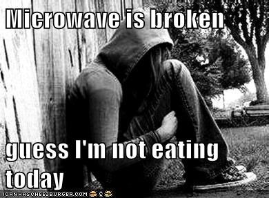 emolulz,First World Problems,microwave,starvation