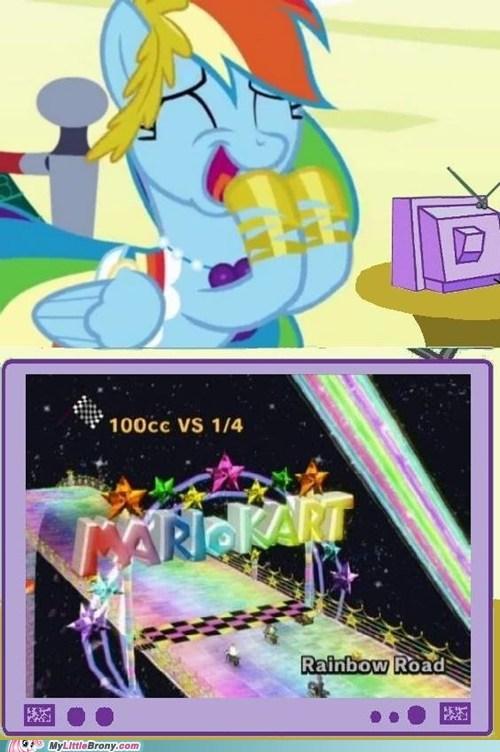 Mario Kart meme rainbow dash - 5530600192