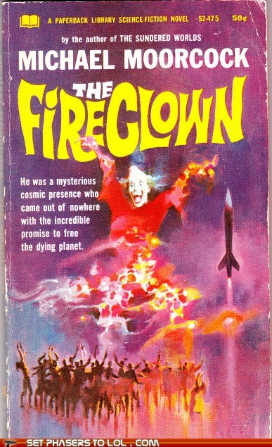 book covers,books,clown,cover art,fire,scary,science fiction,wtf