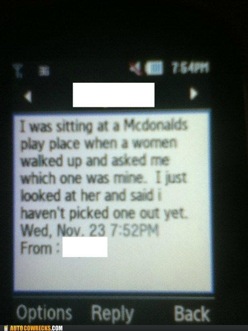 AutocoWrecks children Hall of Fame joke jokes McDonald's parenting texting - 5530836736