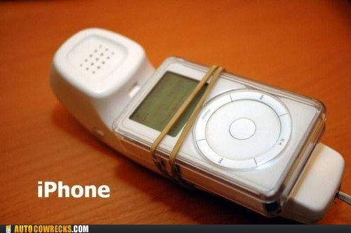 DIY iphone ipod landline pun - 5530863360