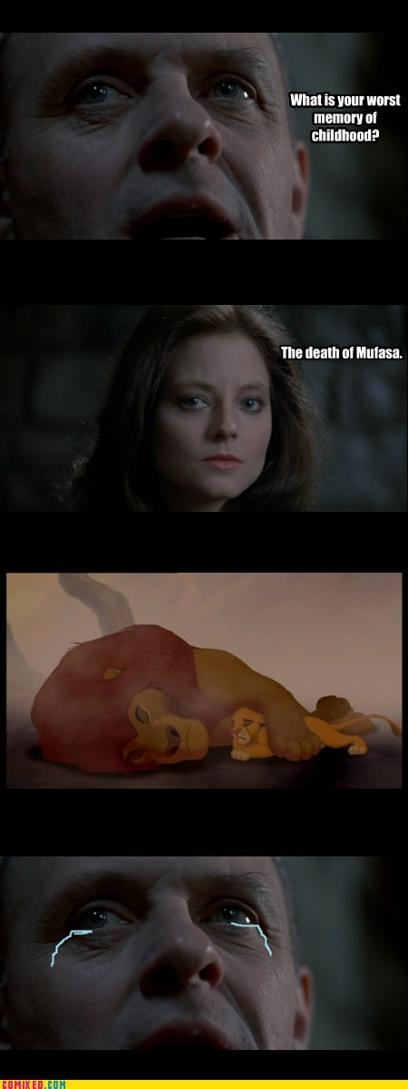 childhood,From the Movies,hannibal lecter,lion king,movies