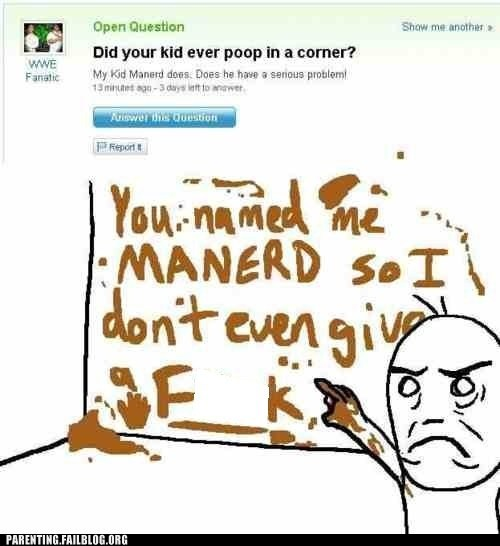 baby names g rated gross names parenting Parenting Fail poop troll weird yahoo answers - 5530921984