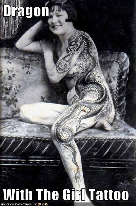 funny historic lols lady Photo tattoo - 5531156480