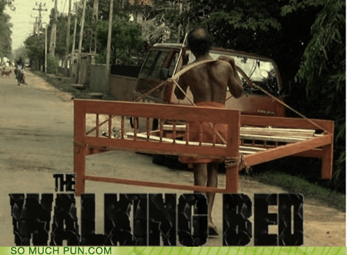 bed,dead,literalism,rhyme,rhyming,similar sounding,walking,The Walking Dead