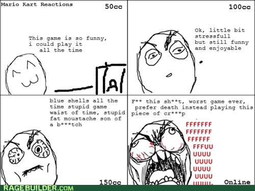Mario Kart online Rage Comics video games