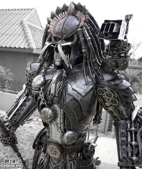 nerdgasm pop culture Predator sci fi scrap metal sculpture - 5531328256