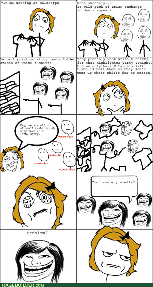 foreign exchange students,racist,Rage Comics,sizes